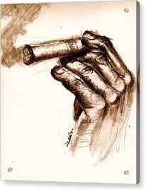 Cigar Acrylic Print by Dallas Roquemore