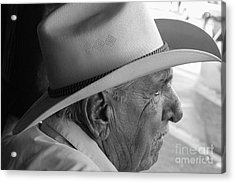 Cigar Maker Remembering His Past Acrylic Print by Rene Triay Photography