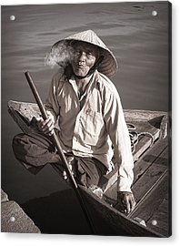 Acrylic Print featuring the photograph Cigar Man by Kim Andelkovic