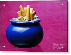 Cigarettes Buts Into Ashtray Acrylic Print