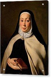 Cignani Carlo, Portrait Of A Nun, 17th Acrylic Print by Everett