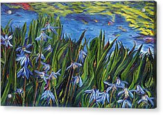 Cilia Flowers Acrylic Print by Gregory Allen Page