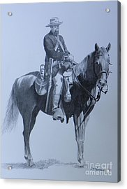 Cilvil War Soldier   Two Acrylic Print by David Ackerson