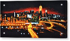 Cincinati Skyline Acrylic Print by Thomas Kolendra