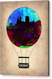 Cincinnati Air Baloon Acrylic Print by Naxart Studio