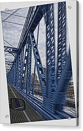 Cincinnati Bridge Acrylic Print by Daniel Sheldon