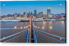Cincinnati From On Top Of The Bridge Acrylic Print