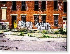 Cincinnati Glencoe Auburn Place Graffiti Photo Acrylic Print by Paul Velgos