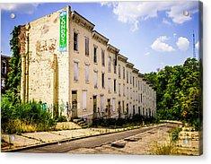 Cincinnati Glencoe-auburn Row Houses Picture Acrylic Print by Paul Velgos