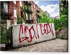 Cincinnati Glencoe Hole Graffiti Picture Acrylic Print by Paul Velgos