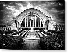 Cincinnati Museum Center Black And White Picture Acrylic Print by Paul Velgos