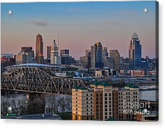 D9u-876 Cincinnati Ohio Skyline Photo Acrylic Print