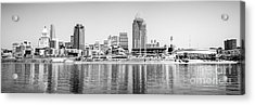 Cincinnati Panorama Black And White Picture Acrylic Print