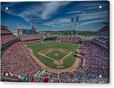Cincinnati Red Great American Ballpark Hdr Acrylic Print