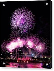 Cincinnati Reds Fireworks Friday Acrylic Print