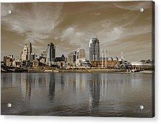 Cincinnati Riverfront Acrylic Print by Diana Boyd
