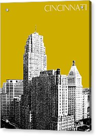 Cincinnati Skyline 2 - Gold Acrylic Print