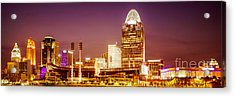 Cincinnati Skyline At Night Panoramic Picture Acrylic Print