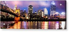 Acrylic Print featuring the photograph Cincinnati Skyline Panorama by Gregory Ballos