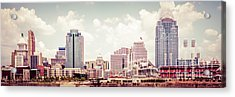 Cincinnati Skyline Panorama Vintage Photo Acrylic Print