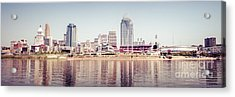 Cincinnati Skyline Retro Panorama Photo Acrylic Print