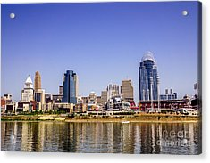 Cincinnati Skyline Riverfront Downtown Office Buildings Acrylic Print