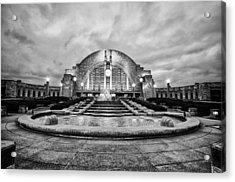 Acrylic Print featuring the photograph Cincinnati Union Terminal by Cathy Donohoue