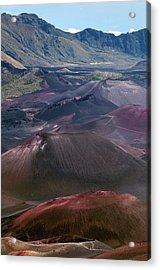 Cinder Cones In Haleakala Crater Acrylic Print by Kaj R. Svensson