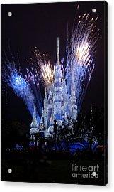 Magic Kingdom Castle Frozen Blue Acrylic Print