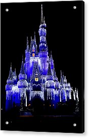 Cinderella's Castle Acrylic Print by Laurie Perry