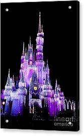 Cinderella's Castle Acrylic Print by Lisa L Silva