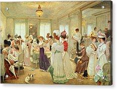 Cinq Heures Chez Le Couturier Paquin, 1906 Acrylic Print by Henri Gervex