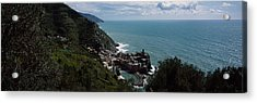 Cinque Terre Italian Riviera Vernazza Acrylic Print by Panoramic Images