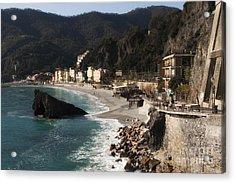 Cinque Terre Acrylic Print by Leslie Leda