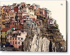 Cinque Terre Mediterranean Coastline Acrylic Print by Kim Fearheiley