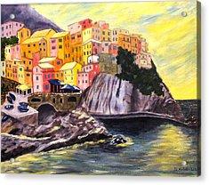 Cinque Terre Sunrise Acrylic Print