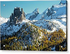 Cinque Torri And Torre Grande Acrylic Print