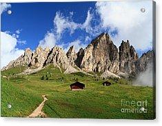 Acrylic Print featuring the photograph Cir Group - Gardena Pass by Antonio Scarpi
