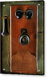 Circa 1920's Antique Wall Phone Acrylic Print by Donna Kennedy