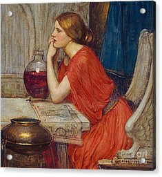 Circe Acrylic Print by John William Waterhouse