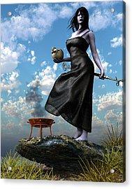 Acrylic Print featuring the digital art Circe by Kaylee Mason