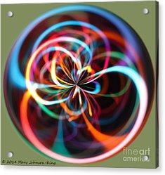 Circle Of Color Acrylic Print