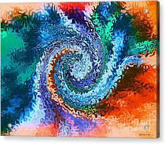 Circle Of Colors Abstract Art Acrylic Print by Annie Zeno