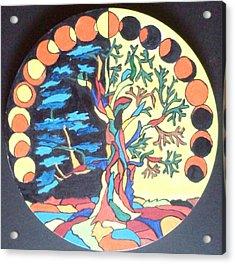 Circle Of Life Acrylic Print by Swati Panchal