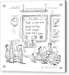 Circle Time: Art Fun: Snack: S.a.t. Prep Acrylic Print
