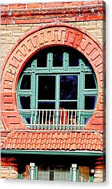 Circle Window Acrylic Print by Suzanne Barber