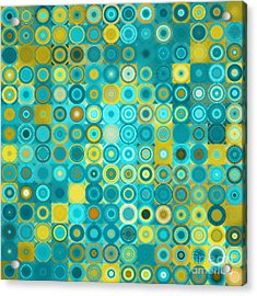 Circles And Squares 6. Modern Home Decor Art Acrylic Print
