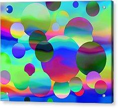 Acrylic Print featuring the digital art Circles by Elizabeth Budd