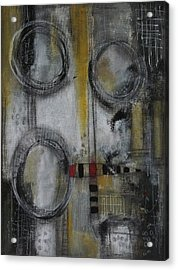 Acrylic Print featuring the painting Circles Of Life by Nicole Nadeau