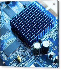 Circuit Board Heat Sink Acrylic Print by Science Photo Library